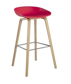 About Stool AAS32 Roble/Coral