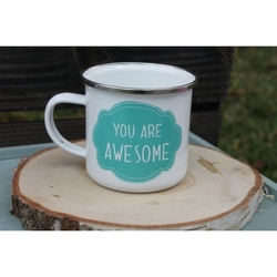 """Taza metálica """"You are awesome"""""""